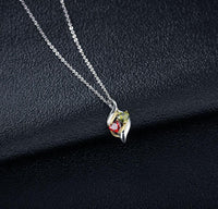 Couples or Mother's Necklace 2 Birthstone Engraved Names