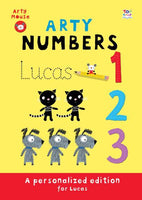 Personalized Arty Mouse Numbers Activity Book