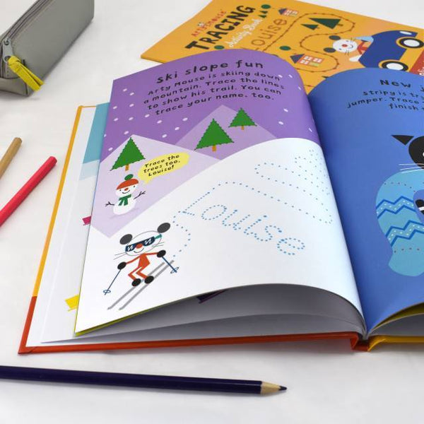 Personalized Arty Mouse Tracing Activity Book - Think Engraved