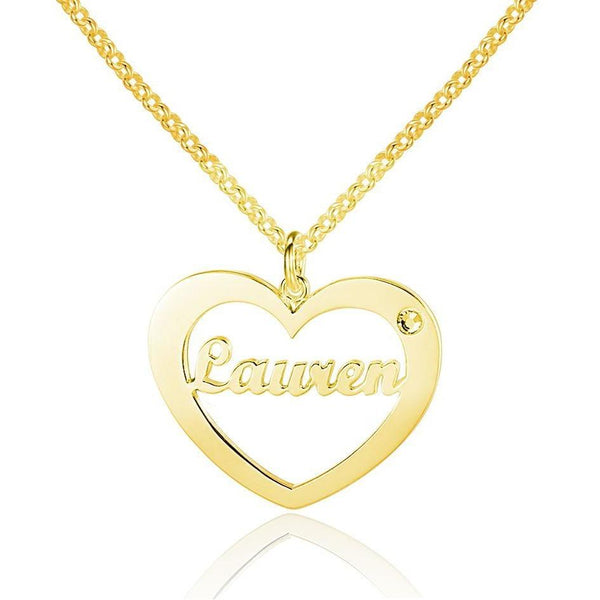 In My Heart 14k Gold Plated Pendant Necklace