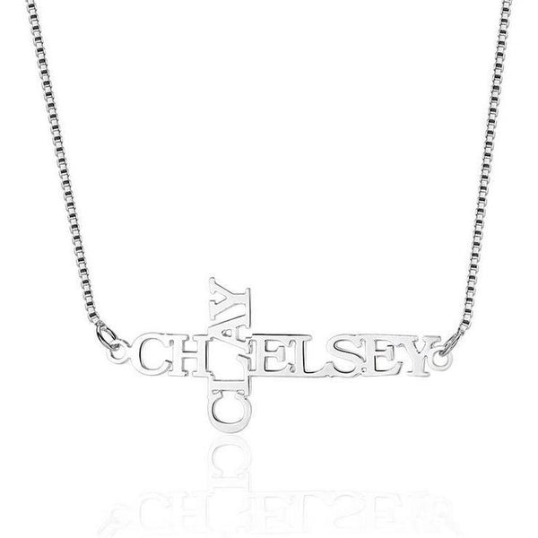 Cross or Crucifix Style Name Necklace