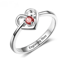 1 Stone Promised Heart Ring With Custom Birthstone