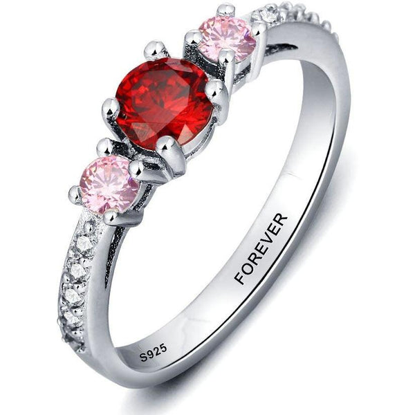 3 Stone Elegant Personalized Mother's Ring - Think Engraved
