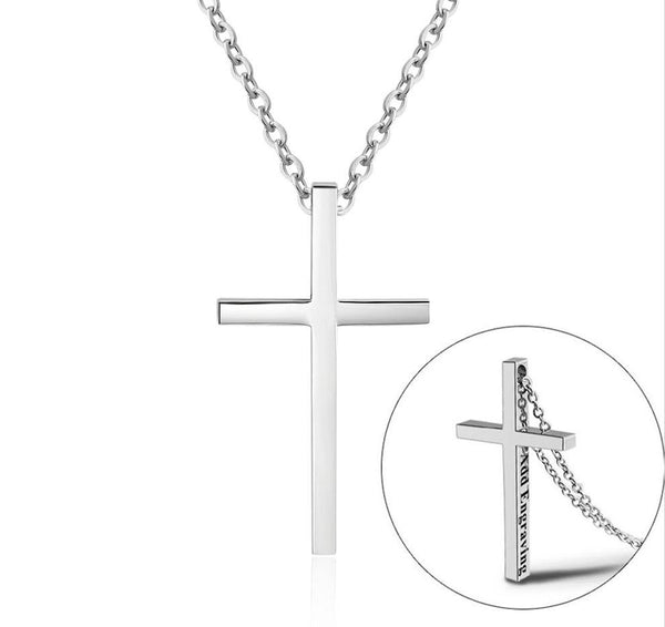 Personalized Engraved Cross - Crucifix Necklace
