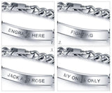 Engraved Name Bracelet Personalized Titanium - Think Engraved