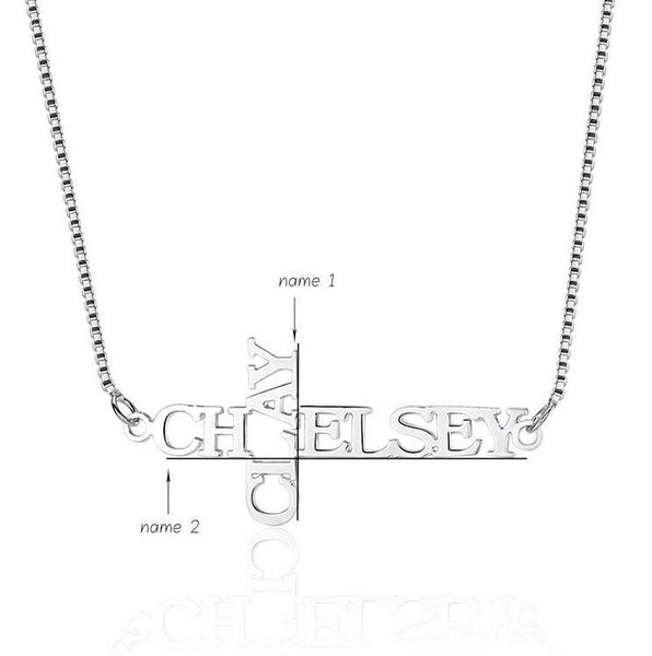 Cross or Crucifix Style Name Necklace - Think Engraved