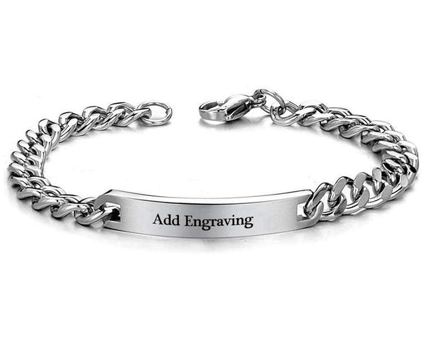 Personalized Engraved His Only Stainless Steel Bracelet