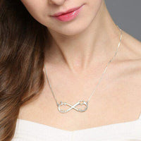Infinity Heart Name Necklace 3 Names