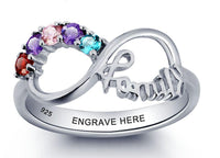 5 Stone Family Infinity Mother's Ring