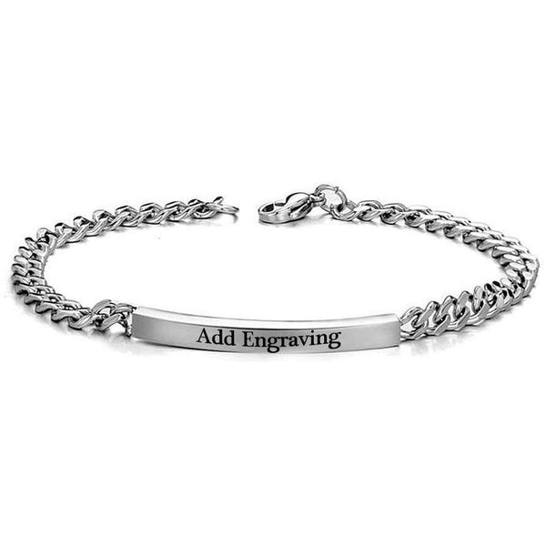 Personalized Engraved Hers Only Stainless Steel Bracelet - Think Engraved