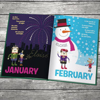 Months of the Year Personalized Book - Think Engraved