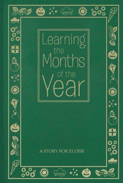 Months of the Year Personalized Book