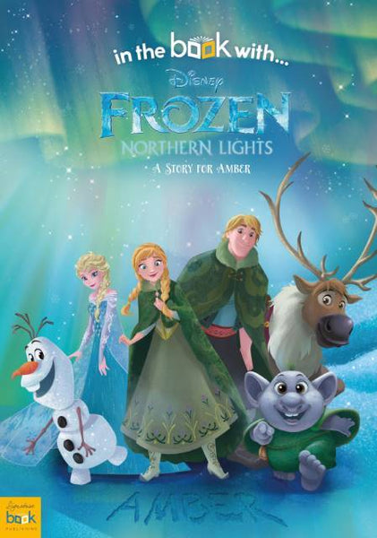 Personalized Disney Frozen Northern Lights Story Book - Think Engraved