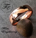 Men's Promise Ring Engraved Rose Gold Coated - Think Engraved