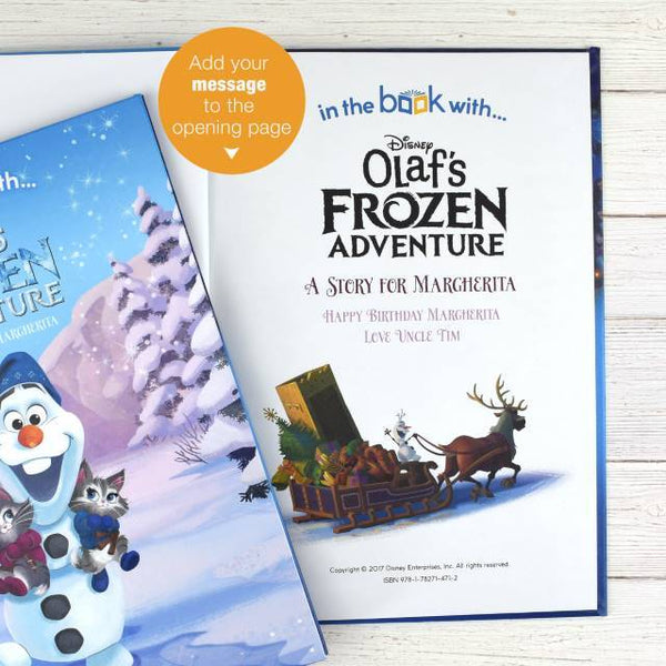 Personalized Disney Olaf's Frozen Adventure Story Book - Think Engraved