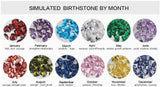Mothers Ring 2 Stone Square Birthstones 14k Rose IP