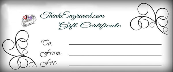 ThinkEngraved Gift Cards - Think Engraved