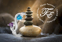 Mothers Infinity Ring 2 Birthstones 2 Engraved Names - Think Engraved