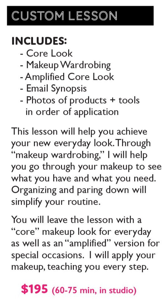 Custom Makeup Lesson