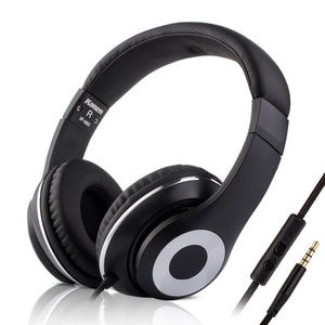 2017 Rockpapa Blue Over Ear Super Bass Headphones Stereo Headsets 3.5mm Jack Earphones for Laptop Phones Tablets MP3 DVD