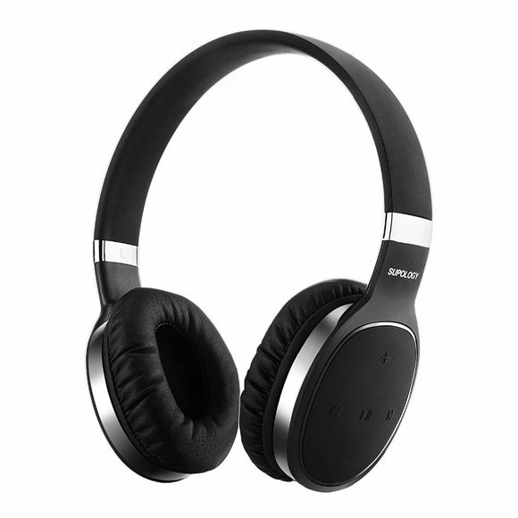 2017 Lightweight Wireless Headphones Over Ear Hifi Stereo Bluetooth Headset Noise Canceling Headphone wtih Mic for phone