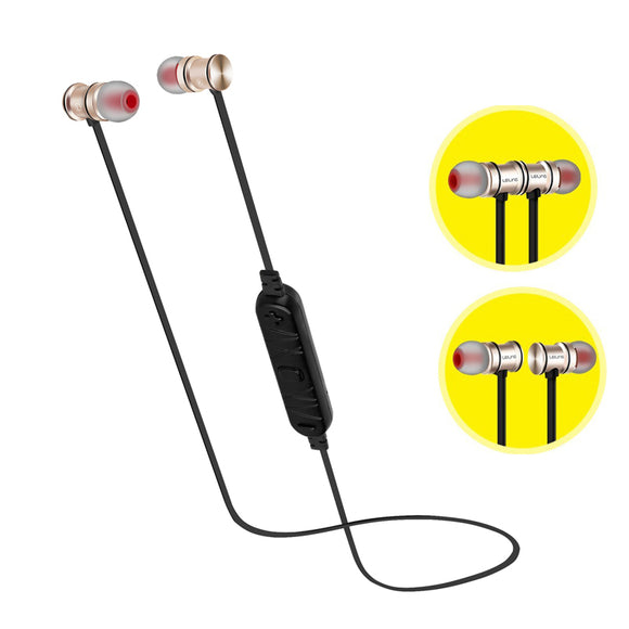 New Wireless Bluetooth Earphone with Mic Sport Magnetic Earpiece Bluetooh Headset Stereo Hifi Bass Headphones for Phone Computer