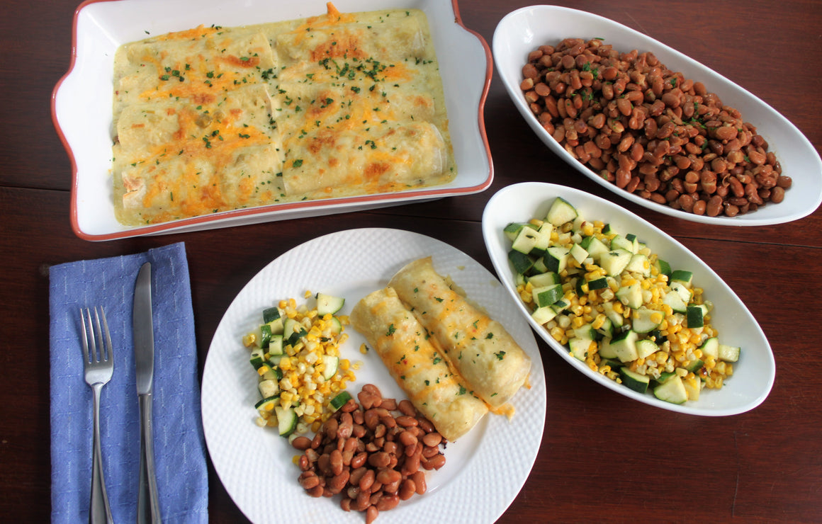 Thursday, May 31st:  Chicken Enchiladas