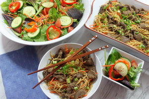 Thursday, April 26th:  Asian Chicken or Steak over Sesame Noodles
