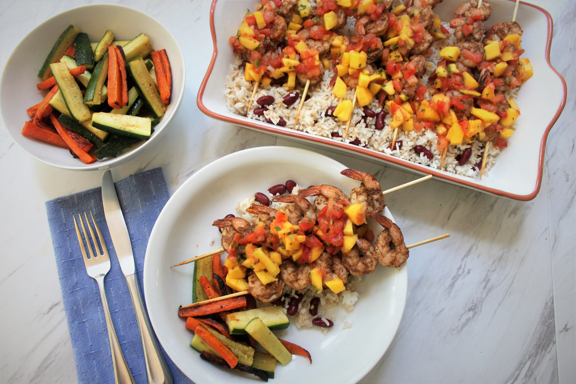 Thursday, April 25th: Jamaican Jerk Chicken or Shrimp with Mango Salsa