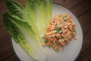 Buffalo Chicken Salad with Lettuce Wraps