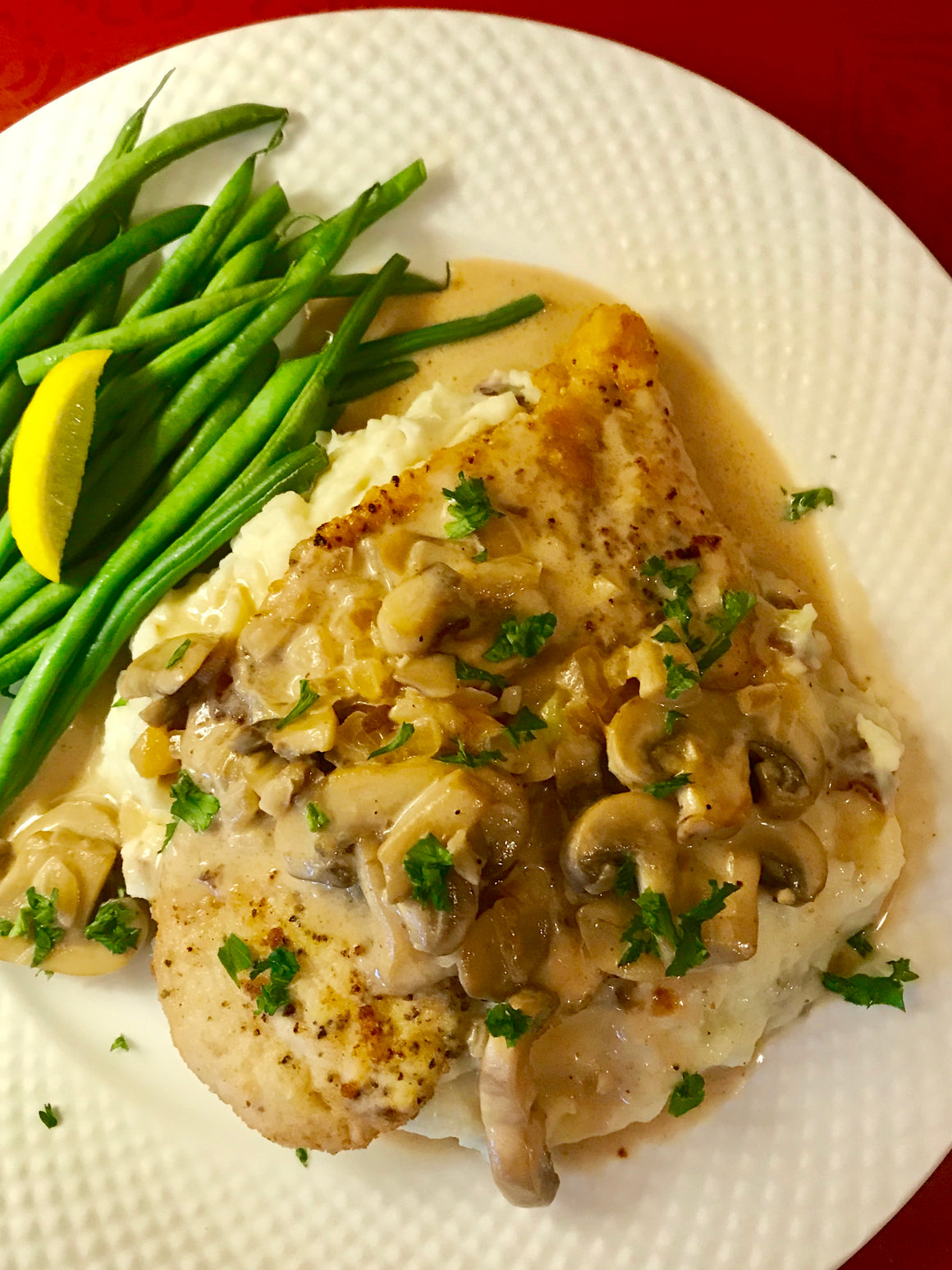 Monday, October 29th:  Chicken Marsala
