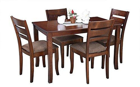 Insignia Victor Four Seater Dining Table Set (Walnut)