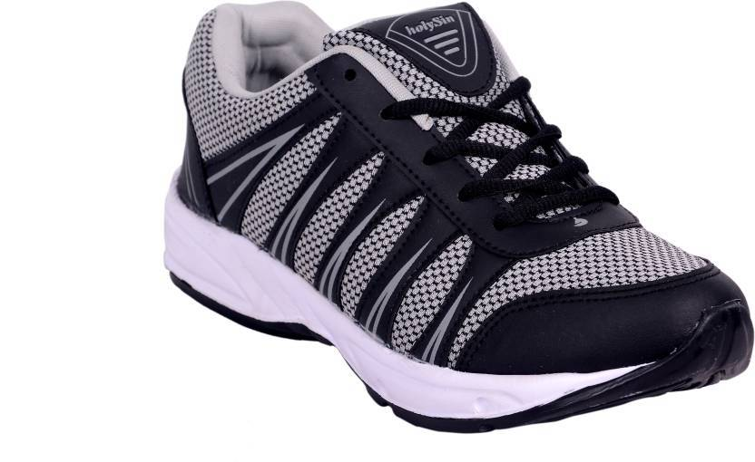 HSN Premium Affordable Running Gym / Regular Wear Shoes For Men (Grey-Black) The Immart
