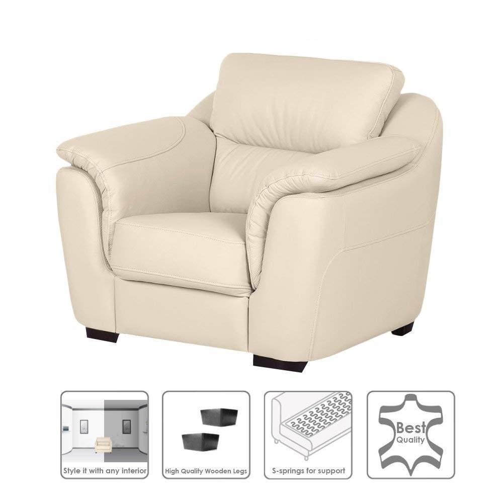 Insignia Casagold 1 seater Leathere Sofa (Cream)