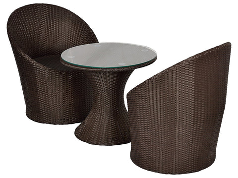 Insignia Olympia Outdoor Patio Furniture Set 2+1 - (Brown)