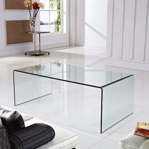Insignia  Acrylic Coffee Table Modern Home Office Furniture Clear Acrylic End Table International Occasion Tea Table Waterfall Table with Rounded Edges. Best Diwali Offer