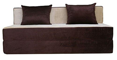 Insignia India Easy Three Seater Sofa Cum Bed (Brown and Gold)