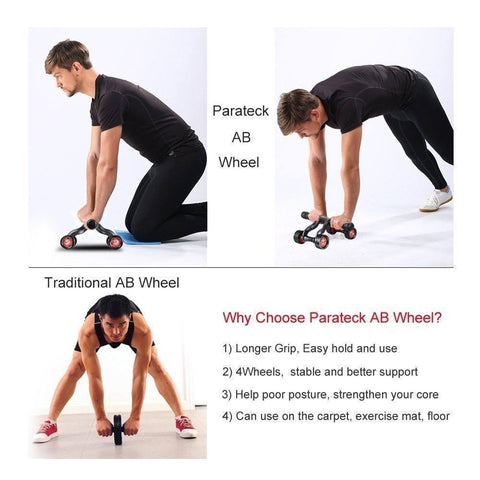 2 In 1 Portable Trainer (Ab Roller & Push Up Bar)