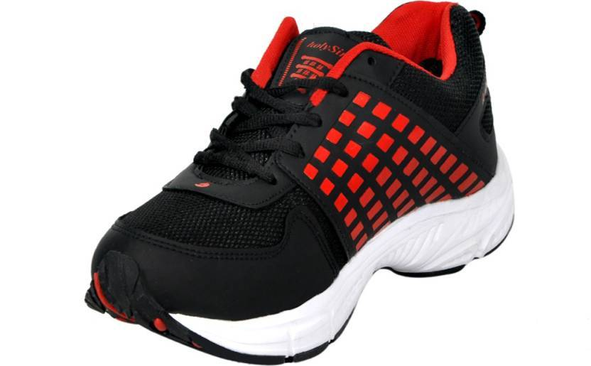 HSN Premium Affordable Running Gym / Regular Wear Shoes For Men (Red-Black) The Immart