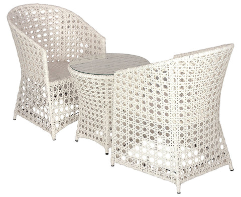 Insignia Ultra Outdoor Patio Furniture Set 2+1 - (White)