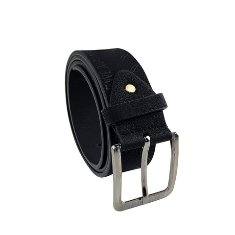 PIndia PU Leather Party Wear Black Belt For Men