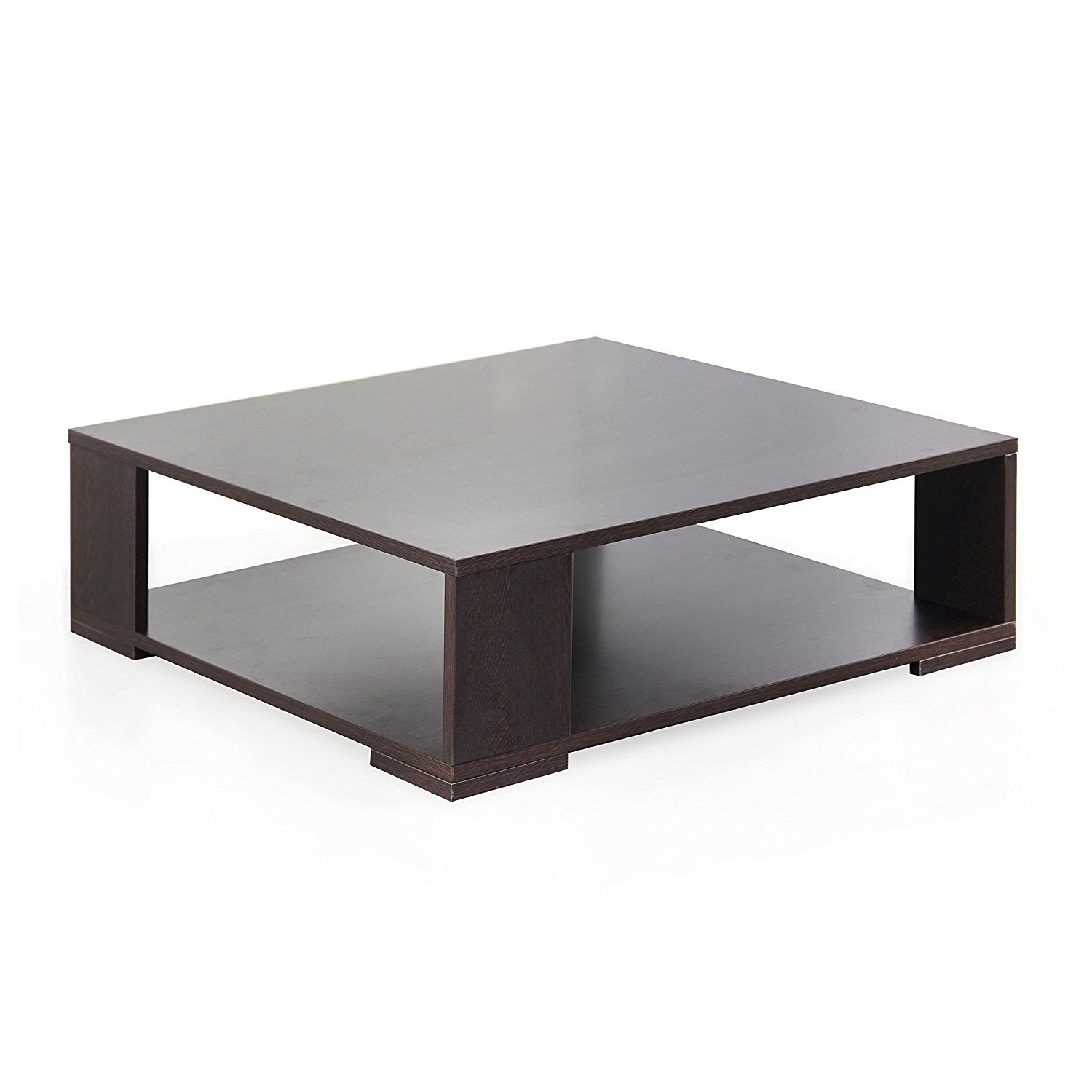 Insignia Clinton Square Coffee Table (Matt Finish, Wenge)