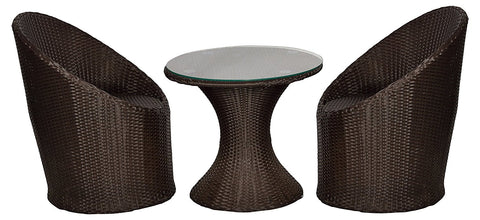 insignia Outdoor Patio Furniture Set 2+1 - (Brown)