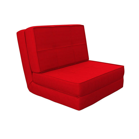 Insignia Isten Floor Futon Sofa Cum Bed (Red)