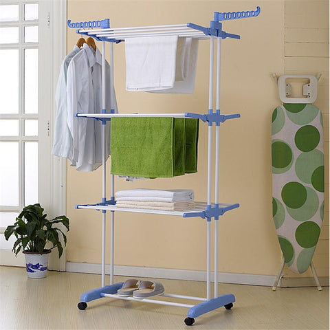 Insignia Multi Function Foldable Height Adjustable Cloth Drying Stand, Organizer