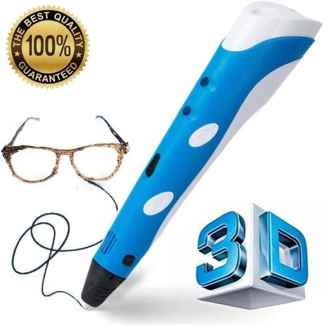 3D Pen - 3D Pen Latest Technology With Temperature Controlled Screen And Stand Draw Anything Anywhere ( 3-Free Filaments With Package)