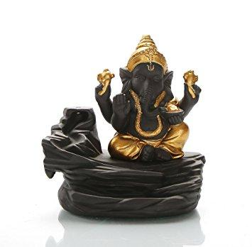 TUZECH Lord Ganesh/Ganesha Backflow Reverse Incense Burner Holder Incense Cone Holder