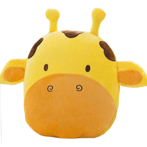 Pindia Yellow Cow Shaped Nap Pillow Cushions Blanket