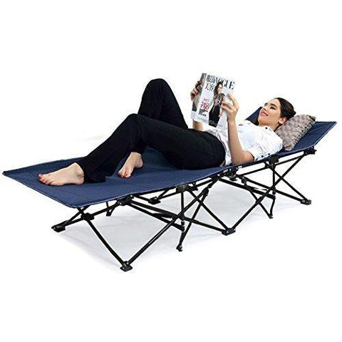 Insignia Portable Folding Camping Bed Beach Bed, Guest Bed, Extra Bed with Carry Bag Outdoor Camping Furniture