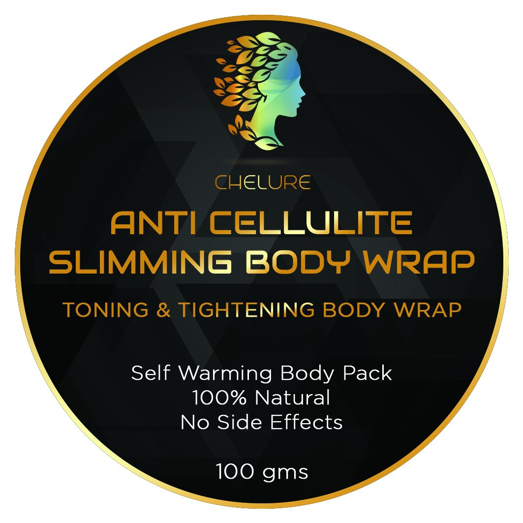 Chelure ANTI CELLULITE Slimming Body Wrap Toning & Tightening Body Wrap Self Warming Body Pack 100% Natural No Side Effects